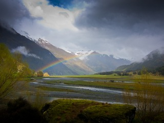 West Matukituki Valley after rain shower